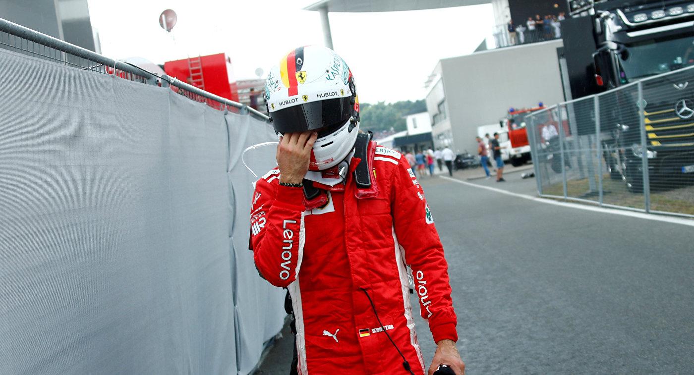 Феттель извинился перед командой за аварию на Гран-при Германии