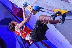 Алексей Рубцов на II этапе Кубка мира по скалолазанию