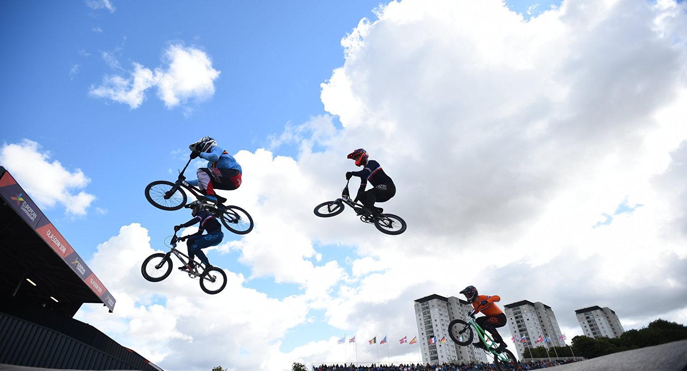 Соревнования по BMX на чемпионате Европы в Глазго