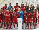 Бавария празднует победу в Суперкубке Германии