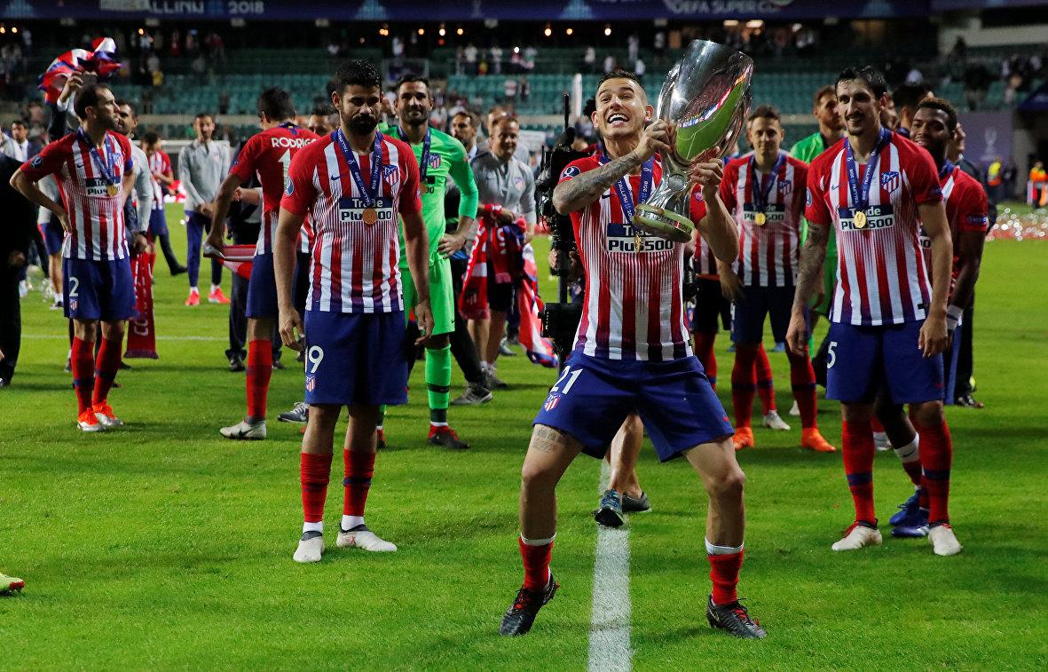 Футболисты мадридского Атлетико