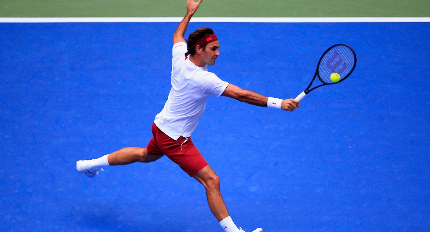 Швейцарец Роджер Федерер на US Open