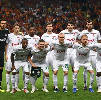 Футболисты Локомотива перед матчем Лиги чемпионов с Галатасараем