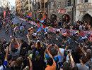 Велогонщики на чемпионате мира по шоссе в Инсбруке