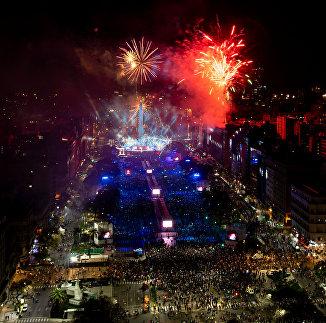 Церемония открытия юношеских Олимпийских игр в Буэнос-Айресе