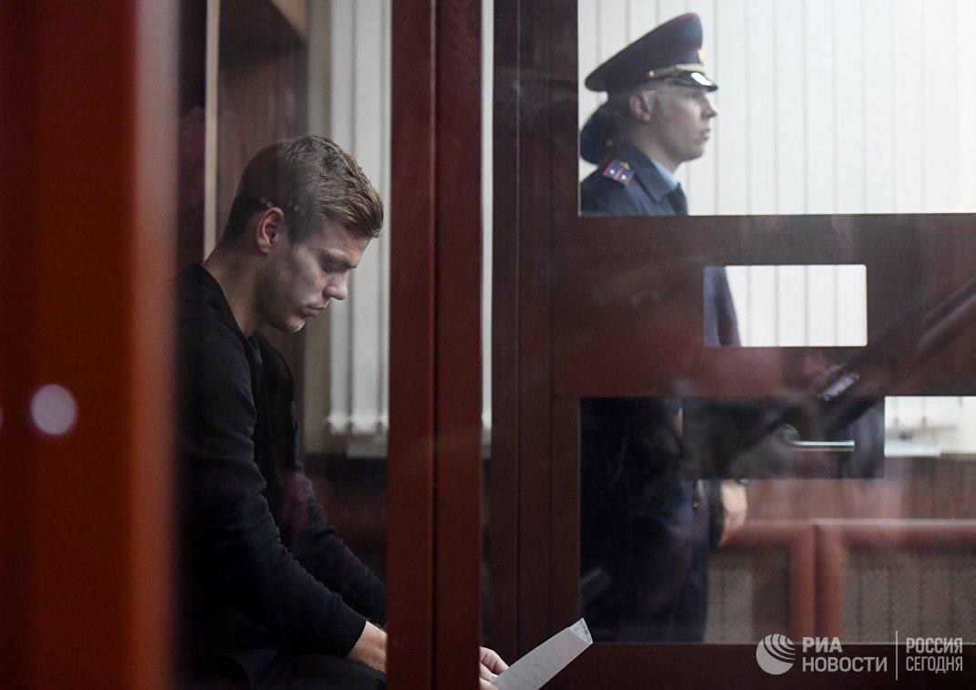Рассмотрение ходатайства следствия об аресте А. Кокорина и П. Мамаева