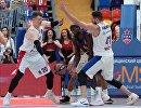 Игровой момент матча ЦСКА - Барселона
