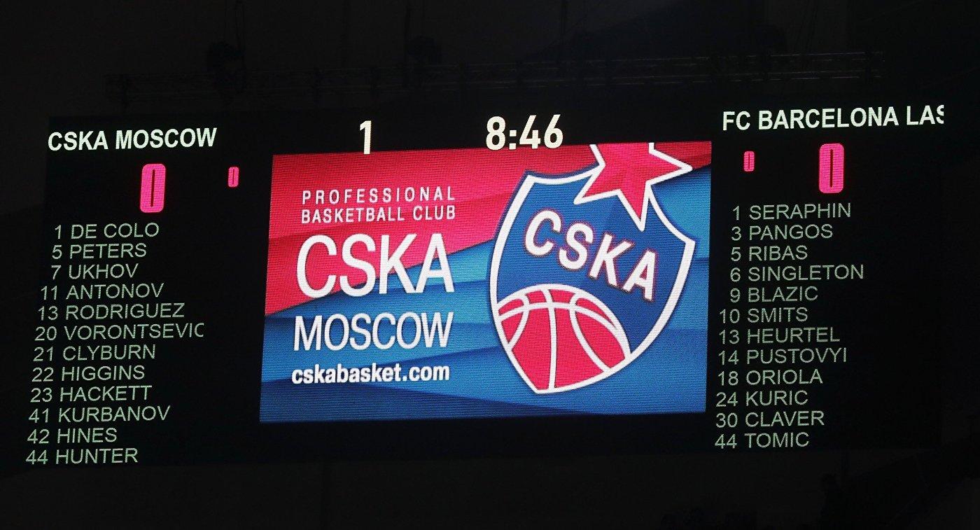Баскетбол. Евролига. Матч ЦСКА - Барселона