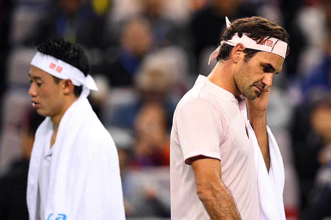 Федерер проиграл Нисикори в матче итогового турнира АТР в Лондоне