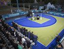 Поминальная церемония в память о скончавшемся Патрике Бауманне