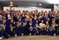 Встреча российских спортсменов - участников летних юношеских Олимпийских игр в Буэнос-Айрес