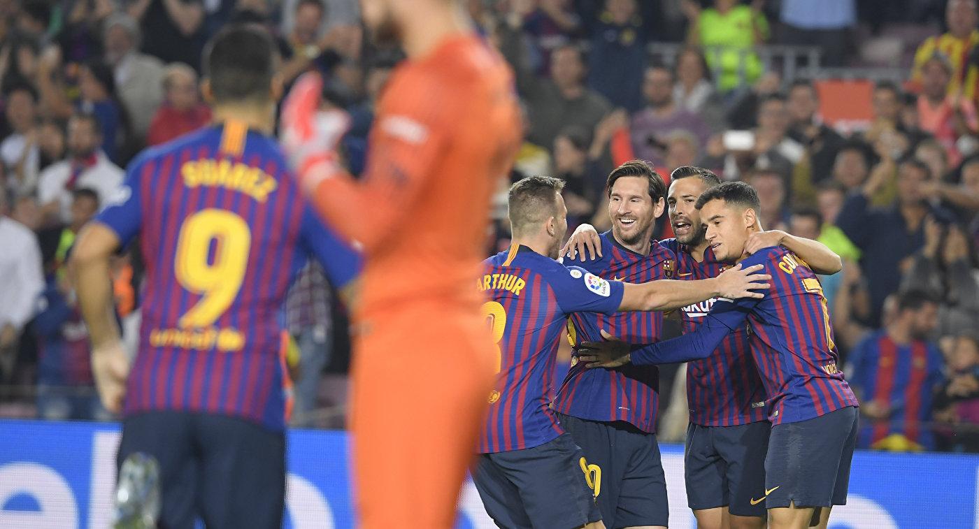 «Барселона» обыграла «Севилью» ивышла влидеры чемпионата Испании