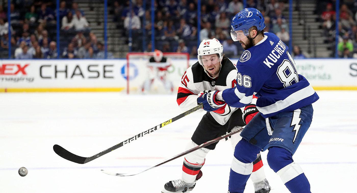 """Дубль Кучерова помог """"Тампе"""" разгромить """"Нью-Джерси"""" в матче НХЛ"""