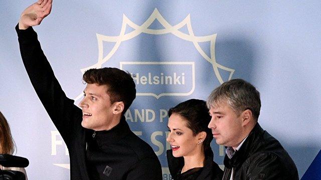 Наталья Забияко и Александр Энберт (слева)
