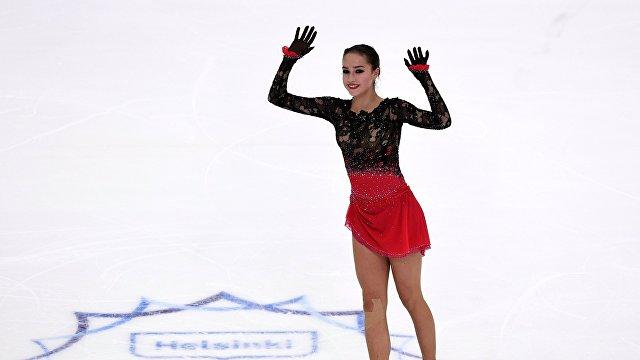 Алина Загитова на 3-м этапе Гран-при по фигурному катанию в Хельсинки