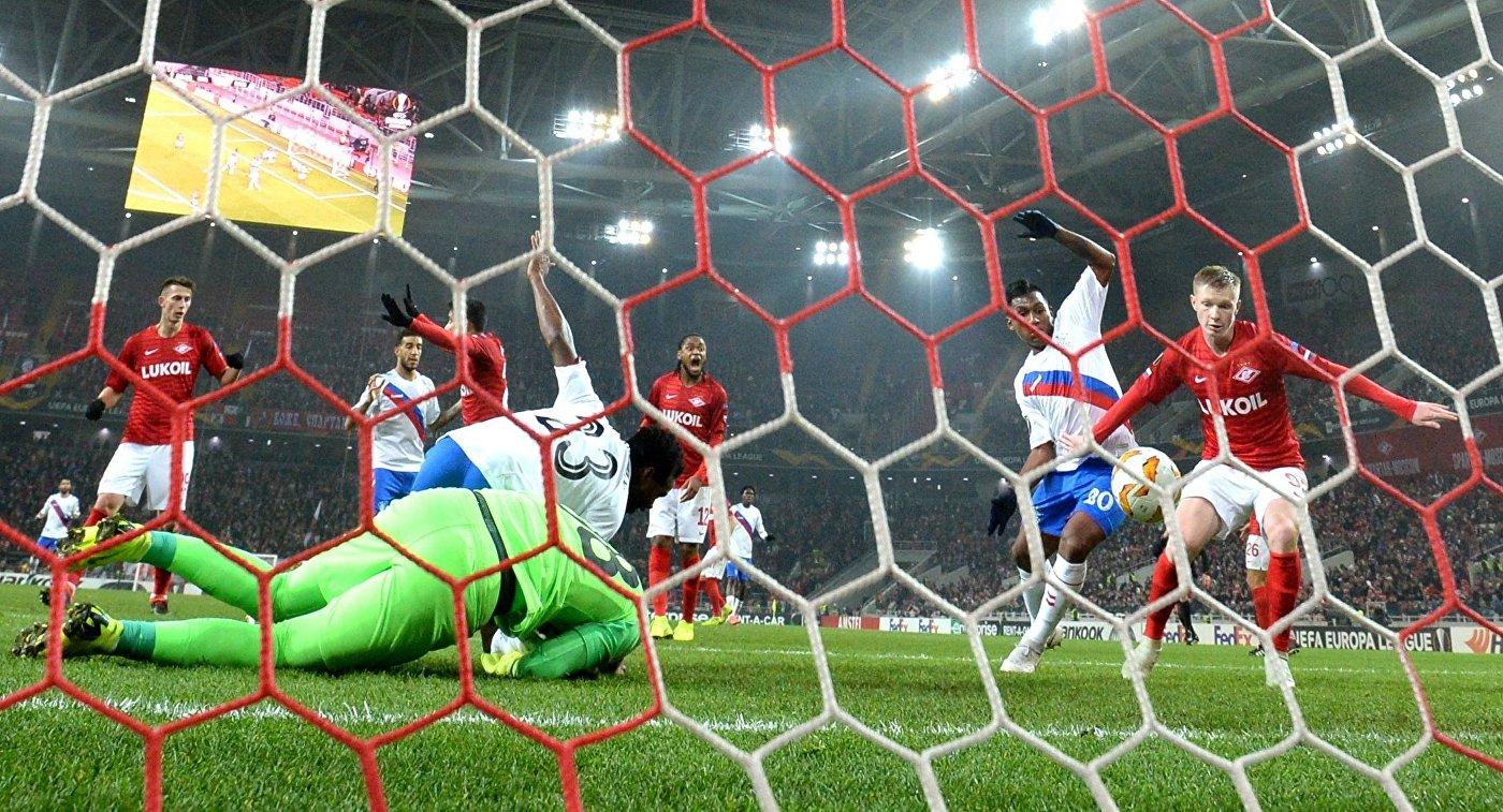 «Спартак» обыграл «Рейнджерс» вЛиге Европы. Команды забили семь мячей надвоих