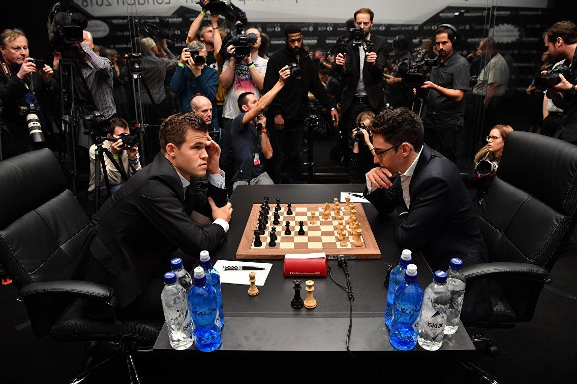 Карлсен и Каруана в четвертый раз сыграли вничью в матче за мировую шахматную корону