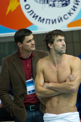 Александр Попов и Майкл Фелпс (слева направо)