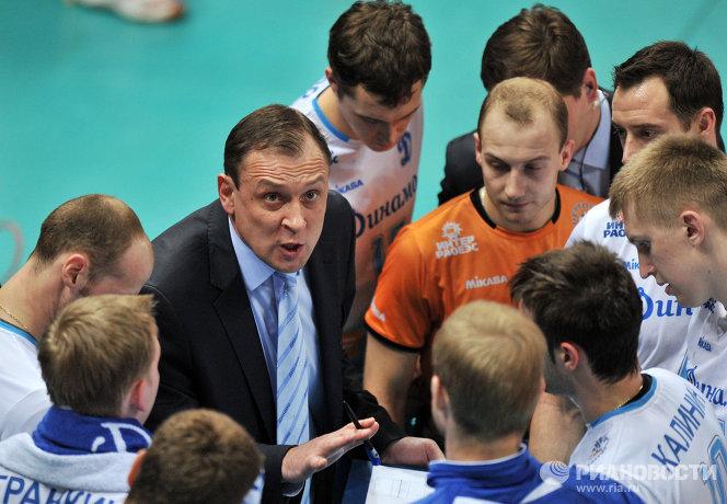 Юрий Чередник и волейболисты Динамо (Москва)