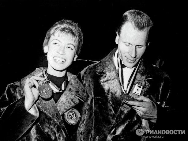 Советские фигуристы Людмила Белоусова и Олег Протопопов