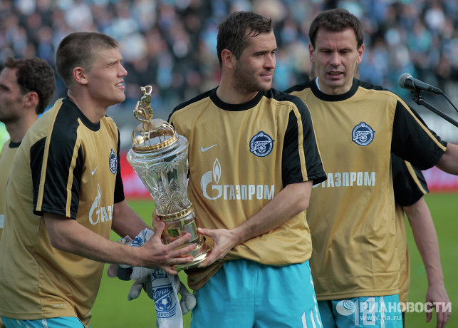 Игорь Денисов, Александр Кержаков и Константин Зырянов (слева направо)