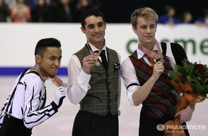 Флоран Амодио, Хавьер Фернандес и Михал Брезина (слева на право)