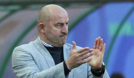 Главный тренер Терека Станислав Черчесов в матче  Терек - Кубань