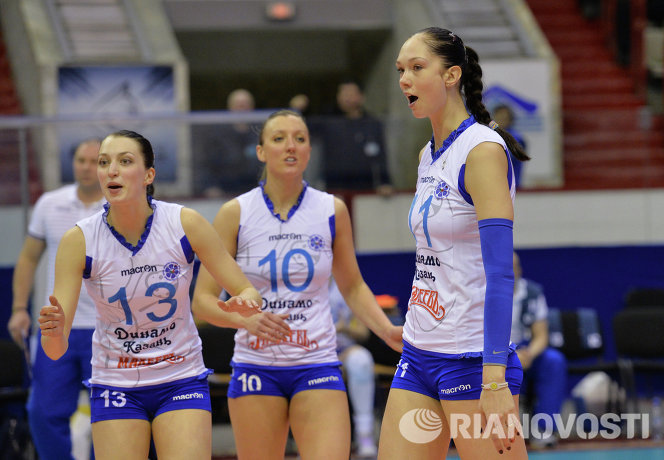 Игроки ВК Динамо-Казань