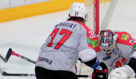 Защитник Металлурга Павел Канарский в сезоне-2012