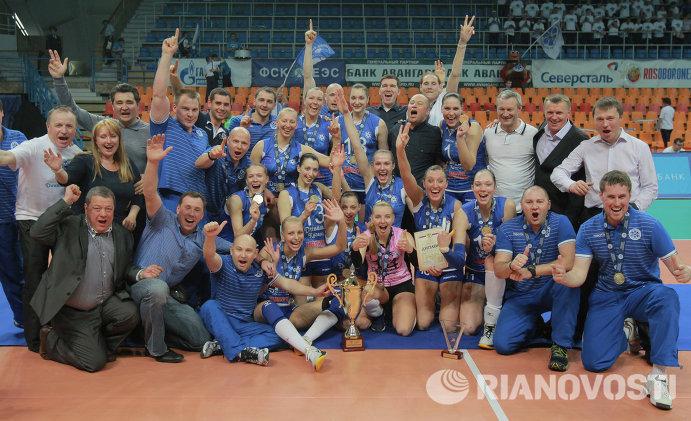 Игроки и тренеры казанского Динамо