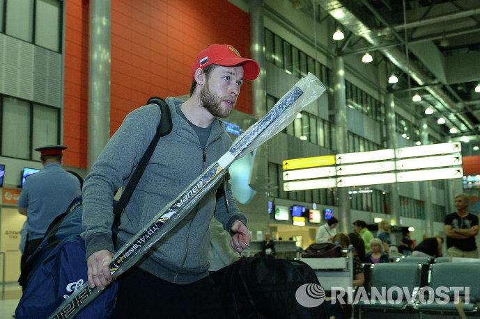 Нападающий сборной России Денис Кокарев