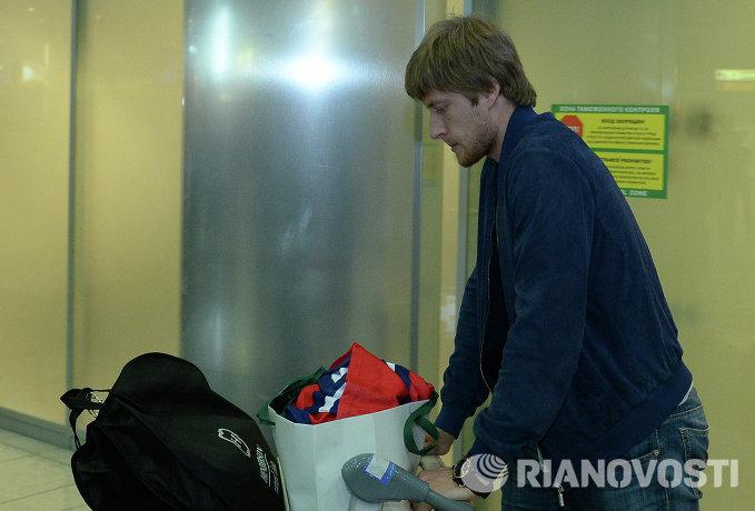 Защитник сборной России Антон Белов