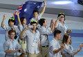 Делегация сборной Австралии во время парада спортсменов
