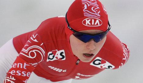 Российская конькобежка Евгения Дмитриева
