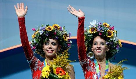 Маргарита Мамун (Россия) - золотая медаль, Яна Кудрявцева (Россия) - золотая медаль.