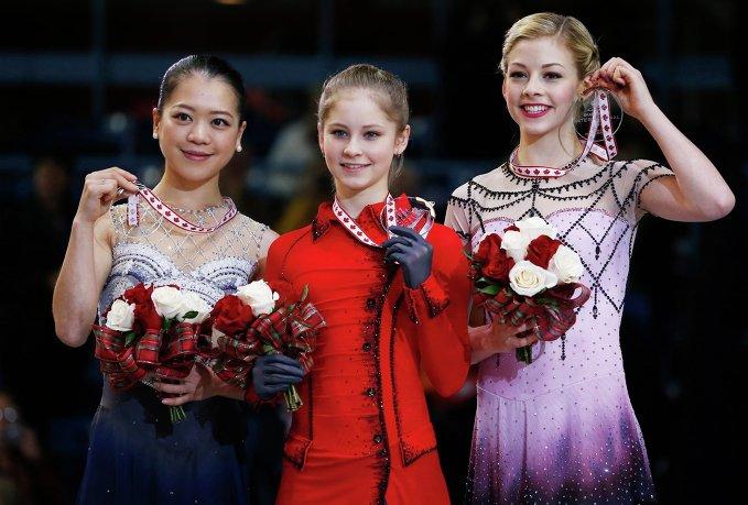 Акико Судзуки, Юлия Липницкая, Грэйси Голд.