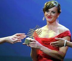 Елена Исинбаева получает награду за выдающуюся карьеру в легкой атлетике