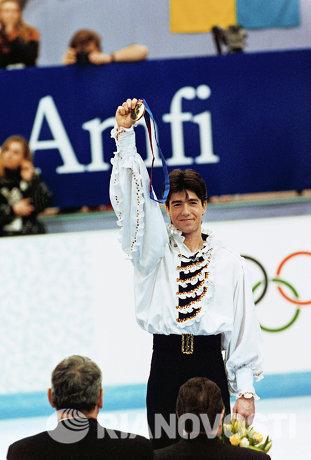Чемпион XVII зимних Олимпийских игр в Лиллехамере - Алексей Урманов
