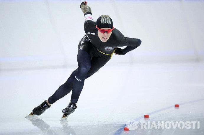 Конькобежный спорт. Чемпионат России. Второй день