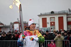 Сергей Шубенков во время эстафеты