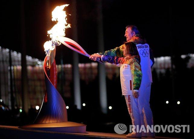 Владислав Третьяк и Ирина Роднина