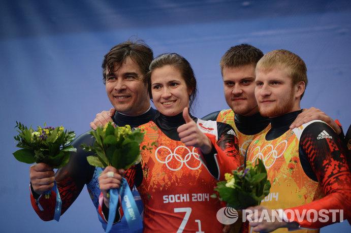 Альберт Демченко, Татьяна Иванова, Александр Денисьев и Владислав Антонов (слева направо)