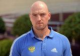 Тренер Янис Мининс во время тренировки женской сборной России по бобслею