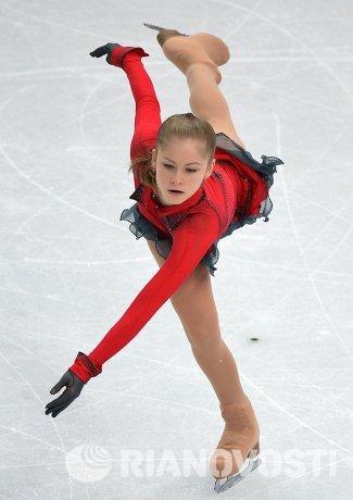 Юлия Липницкая (Россия) выступает в произвольной программе женского одиночного катания