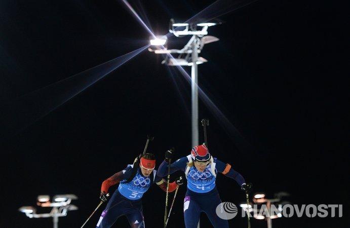 Слева направо: Ольга Вилухина (Россия), Тура Бергер (Норвегия)