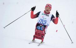 Акжана Абдикаримова (Россия) на финише гонки на длинной дистанции в классе LW 10-12 (сидя)