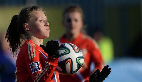 Футболистка сборной России Екатерина Пантюхина