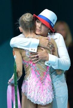 Президент Всероссийской федерации художественной гимнастики Ирина Винер-Усманова (справа)
