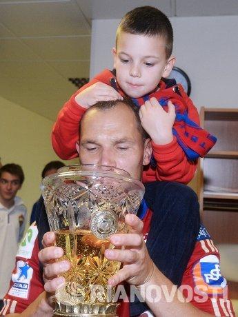 Сергей Игнашевич с сыном