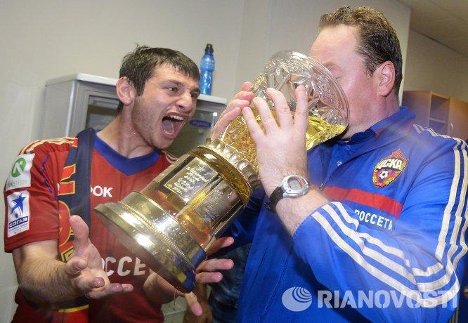 Алан Дзагоев и Леонид Слуцкий (слева направо)